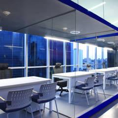 OFICINAS CORPORATIVAS SPIN MASTER: Oficinas y tiendas de estilo  por IN - OUT ARQUITECTURA