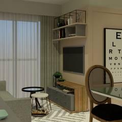 Apartamento JPA: Salas de estar  por Studio BRTA