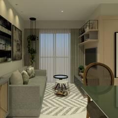 Apartamento JPA: Salas de estar escandinavas por Studio BRTA
