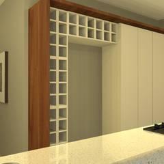 Apartamento Renascence: Cozinhas embutidas  por PRB ARQUITETURA