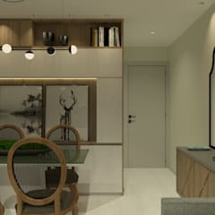 Apartamento JPA: Salas de jantar  por Studio BRTA