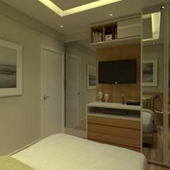 Apartamento Jacarepguá: Quartos  por Studio BRTA