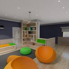 Diseño interior - Vivienda Unifamiliar: Dormitorios de estilo  por Triad Group