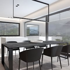 Projekt nowoczesnego wnętrza domu w Górkach: styl , w kategorii Kuchnia na wymiar zaprojektowany przez Mono architektura wnętrz Katowice