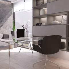 Projekt nowoczesnego wnętrza domu w Górkach: styl , w kategorii Domowe biuro i gabinet zaprojektowany przez Mono architektura wnętrz Katowice