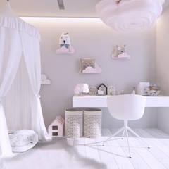 Projekt nowoczesnego wnętrza domu w Górkach: styl , w kategorii Pokój dla dziecka zaprojektowany przez Mono architektura wnętrz Katowice