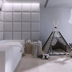 Projekt nowoczesnego wnętrza domu w Górkach: styl , w kategorii Pokój dla chłopca zaprojektowany przez Mono architektura wnętrz Katowice