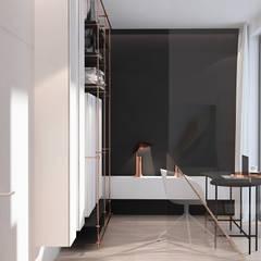 Wnętrza domu w Chorzowie: styl , w kategorii Domowe biuro i gabinet zaprojektowany przez Mono architektura wnętrz Katowice