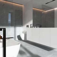 Wnętrza domu w Chorzowie: styl , w kategorii Łazienka zaprojektowany przez Mono architektura wnętrz Katowice