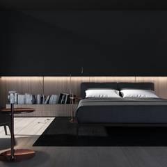Wnętrza domu w Chorzowie: styl , w kategorii Sypialnia zaprojektowany przez Mono architektura wnętrz Katowice