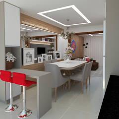 sala de jantar: Salas de jantar clássicas por CASAGRANDE ARQUITETURA