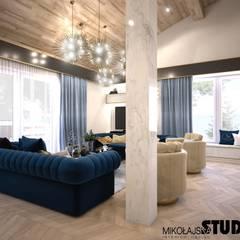 eleganckie wnętrze: styl , w kategorii Salon zaprojektowany przez MIKOŁAJSKAstudio