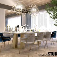 elegancka jadalnia: styl , w kategorii Salon zaprojektowany przez MIKOŁAJSKAstudio