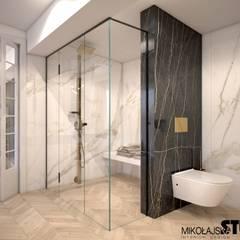 komfortowy prysznic: styl , w kategorii Łazienka zaprojektowany przez MIKOŁAJSKAstudio