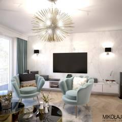 PENTHOUSE W ŚWINOUJŚCIU: styl , w kategorii Domowe biuro i gabinet zaprojektowany przez MIKOŁAJSKAstudio