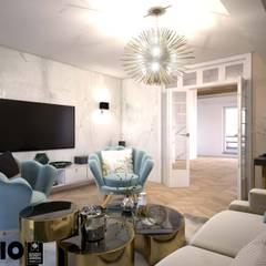 jasny gabinet: styl , w kategorii Domowe biuro i gabinet zaprojektowany przez MIKOŁAJSKAstudio
