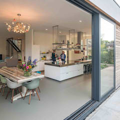 Nieuwbouw villa: moderne Keuken door Richèl Lubbers Architecten