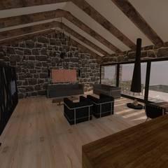 LEYLA ERCAN MİMARLIK – ÖZCAN EVİ: iskandinav tarz tarz Oturma Odası