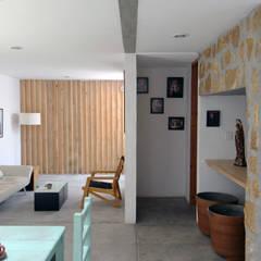 Casa CH: Salas de estilo industrial por Apaloosa Estudio de Arquitectura y Diseño