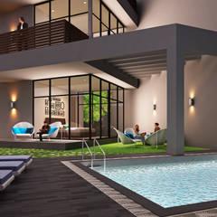 A duplex Villa:  Houses by  Ashleys