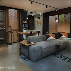 ห้องนั่งเล่น by Rodrigo Westerich - Design de Interiores