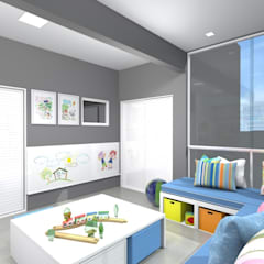 Habitaciones de bebés de estilo  por Arquiteta Carol Algodoal Arquitetura e Interiores
