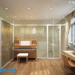 Salas multimedia de estilo asiático por Công ty thiết kế xây dựng Song Phát