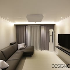 용산구 효창동 세양청마루 아파트인테리어 23평: DESIGNCOLORS의  거실
