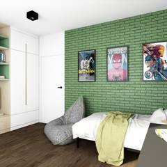 Projekt pokoju dla chłopca, Poznań: styl , w kategorii Pokój dziecięcy zaprojektowany przez Offa Studio