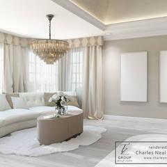 Dom w USA: styl , w kategorii Pokój multimedialny zaprojektowany przez Design studio TZinterior group