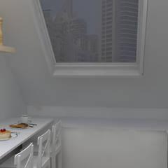Ático, cocina y salón-comedor: Cocinas integrales de estilo  de M2 Al Detalle
