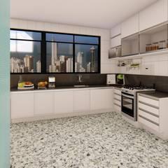 Armarios de cocinas de estilo  por Fark Arquitetura e Design,