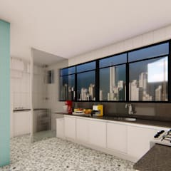 مطبخ ذو قطع مدمجة تنفيذ Fark Arquitetura e Design
