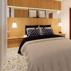Apartamento Pequeno: Quartos  por Fark Arquitetura e Design,Moderno
