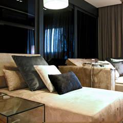 Apartamente - RÚSTICO-CHIC: Salas de estar  por INSIDE ARQUITETURA E DESIGN
