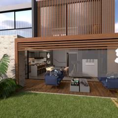 Residência Minimalista : Jardins minimalistas por Otanno Arquitetura de Interiores