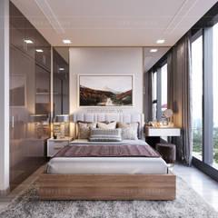 THIẾT KẾ NỘI THẤT CĂN HỘ VINHOMES GOLDEN RIVER - Xu hướng thiết kế vách ngăn:  Phòng ngủ by ICON INTERIOR