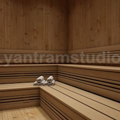 Choosing The Best Steam Room In House Design Ideas by Yantram 3d interior rendering services Moscow:  Steam Bath by Yantram Architectural Design Studio