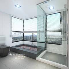 衛浴/人文休閒:  浴室 by 木博士團隊/動念室內設計制作