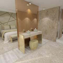 Projeto de Moradia de Luxo em Fão: Quartos modernos por Atelier Kátia Koelho