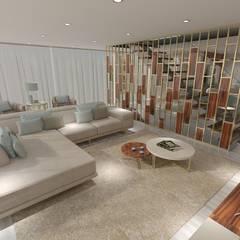 Projeto de Moradia de Luxo em Fão: Salas de estar  por Atelier Kátia Koelho