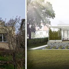 WILLA (RE)MODERNISTYCZNA: styl , w kategorii Domy zaprojektowany przez NA NO WO ARCHITEKCI