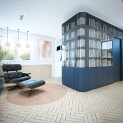 BIBLIOTEKA: styl , w kategorii Domowe biuro i gabinet zaprojektowany przez NA NO WO ARCHITEKCI