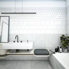 ŁAZIENKA: styl , w kategorii Łazienka zaprojektowany przez NA NO WO ARCHITEKCI