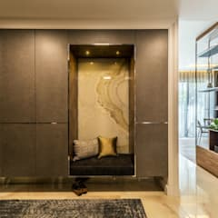Pasillos y hall de entrada de estilo  por Viva Design - projektowanie wnętrz