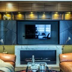 Zabudowa RTV: styl , w kategorii Salon zaprojektowany przez Viva Design - projektowanie wnętrz