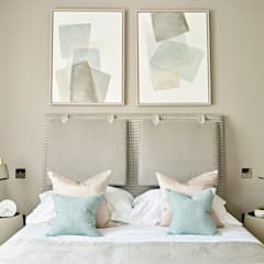 Master Bedroom headboard:  Bedroom by Tailored Living Interiors