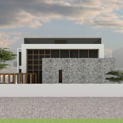 Front Elevation :  Bungalows by Bodhivraksh Design Studio