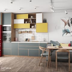 Mieszkanie w stylu loft: styl , w kategorii Kuchnia zaprojektowany przez Design studio TZinterior group