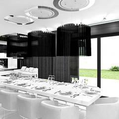 MAKE IT HAPPEN | I | Wnętrza domu: styl , w kategorii Jadalnia zaprojektowany przez ARTDESIGN architektura wnętrz